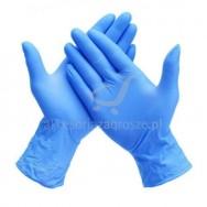 Rękawice ochronne nitrylowe czarne/niebieskie M