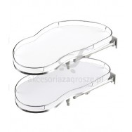 Półka narożna R Corner Optima 900/500 prawa metal lakier srebrny/biały WE28.2608.43.313