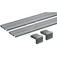 SlideLine M zestaw 2-torowy L-2500 srebrny 9227245