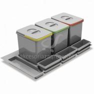Segregator Multino 800 3x15l+3 brytfanki antracyt