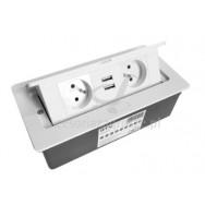Przedłużacz GTV SOFT 2 gniazda + 2 USB biały AE-PBSUC2GU-10